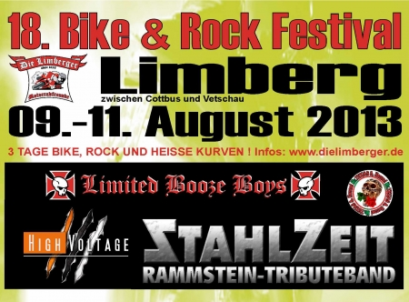 Flyer 18. Bike und Rock Festival 2013