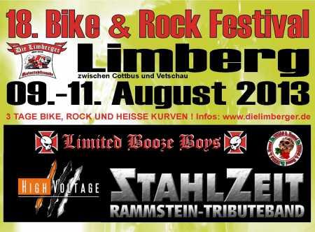 Flyer 18. Bike und Rock Festival 2013